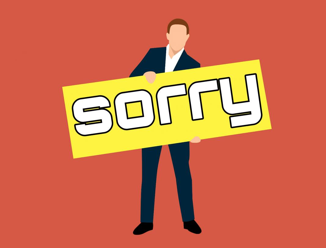 sorry, board, regret