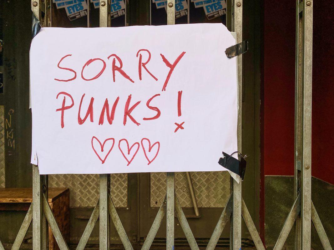 SORRY PUNKS –no concerts at famous SO36 in Berlin-Kreuzberg