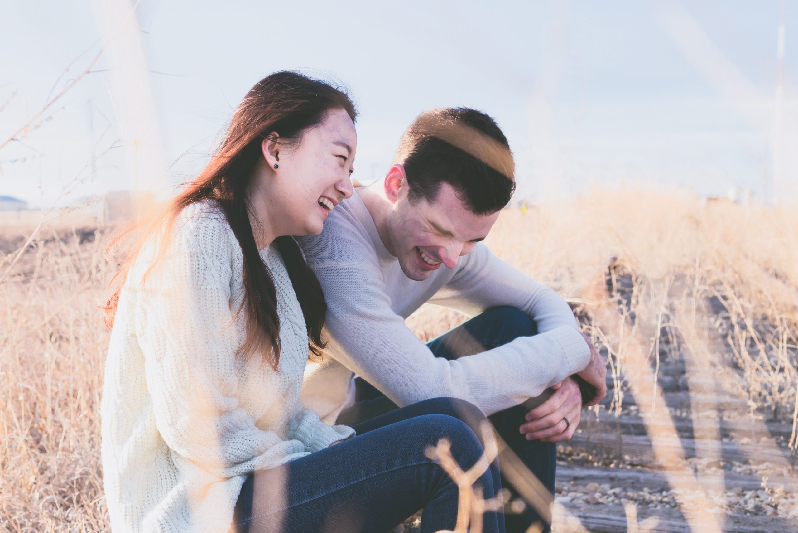 couple, happy, laughing